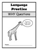 WHY QUESTIONS Assessment Booklet- Speech Therapy, Autism,