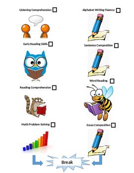 WIAT-III Academic Achievement Assessment Visual Schedule
