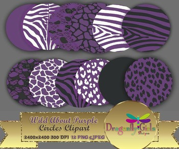 WILD About Purple Circles commercial use,vector graphics,d
