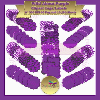 WILD About Purple clipart commercial use, vector graphics,