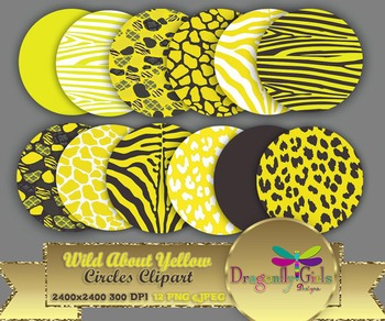 WILD About Yellow Circles commercial use,vector graphics,d