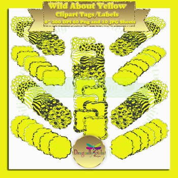 WILD About Yellow clipart commercial use, vector graphics,
