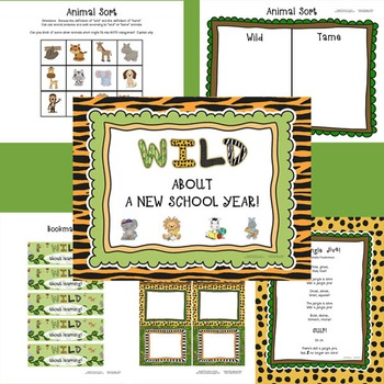 WILD About a New School Year!  A back to school rainforest