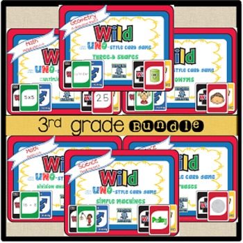 WILD Card BUNDLE 3rd grade
