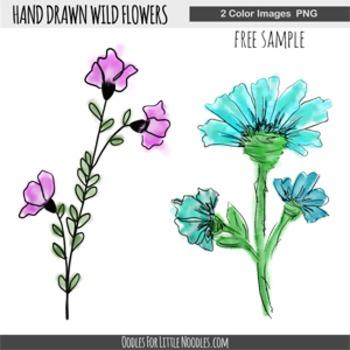 WILD FLOWER SAMPLER **clip art**