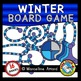 WINTER GAME BOARD CLIPART: BUILD A GAME CLIPART: WINTER CLIPART