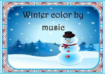 WINTER COLOR BY MUSIC