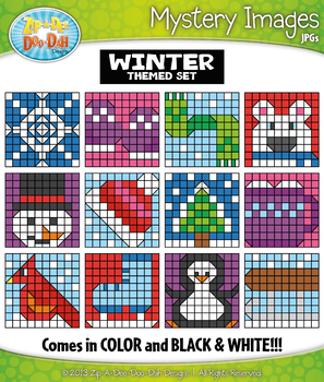 WINTER Create Your Own Mystery Images Clipart Set