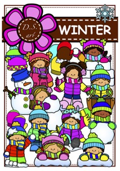 WINTER Digital Clipart (color and black&white)