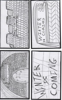 WINTER IS COMING - Index Cards for coloring and writing on