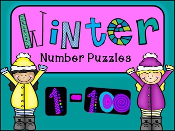WINTER Number Puzzles 1-100, 2s, 5s and 10s Skip Counting