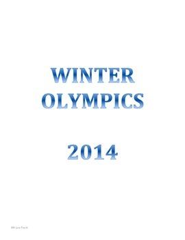 WINTER OLYMPICS ACTIVITY PACK (winter 2014)