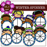WINTER SPINNERS Digital Clipart (color and black&white)