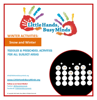 WINTER: Snow and Winter - Weekly Thematic Unit for Toddler