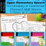 WINTER Speech Therapy Upper Elem Bundle Themed Vocabulary