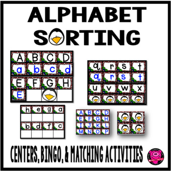 Alphabet Matching and Bingo Game with Winter Penguin Theme