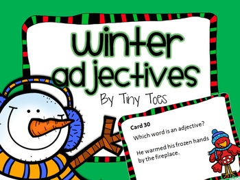 SCOOT WINTER Theme Adjective Game task cards meets common