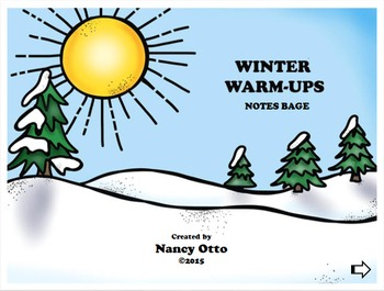 Winter Warm-Ups:  Notes BAGE