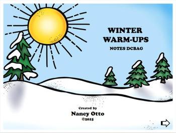 Winter Warm-Ups:  Notes DCBAG