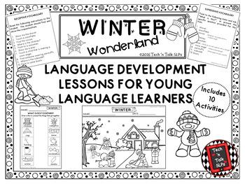 WINTER WONDERLAND Language Development Lessons for Young L