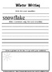 Printable Winter writing and illustration journal.