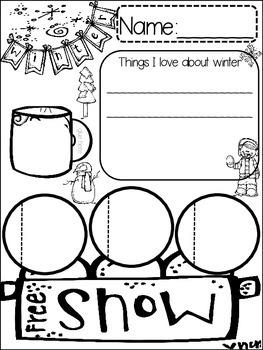 WINTER {{quick topics}} one interactive worksheet