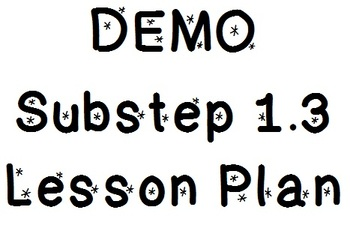 Demo Lesson 1.3 Lesson Plan