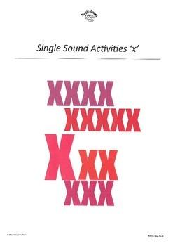 WJQVXYZ Alphabet Sounds 'x'