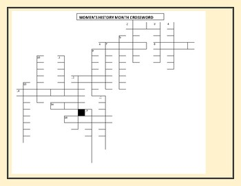 WOMEN'S HISTORY MONTH CROSSWORD : Can you guess the person?