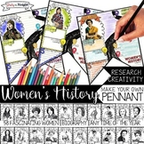 WOMEN'S HISTORY MONTH, BIOGRAPHY RESEARCH, PENNANT, MAKE Y