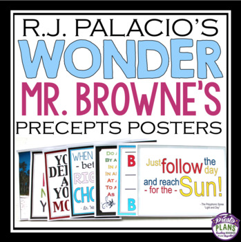 WONDER BY R. J. PALACIO QUOTE PRECEPTS POSTERS