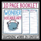 WONDER BY R J PALACIO VOCABULARY
