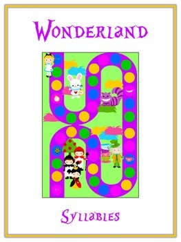 WONDERLAND Syllables - ELA First Grade Folder Game - Word