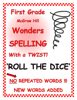 """WONDERS 1st Grade SPELLING with extra words! No repeats """"R"""