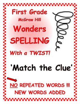 WONDERS 1st Grade SPELLING with extra words! No words repe
