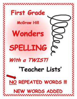 WONDERS 1st Grade SPELLING with extra words! No words are
