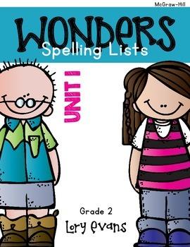 2nd Grade WONDERS Homework Activities for Unit 1