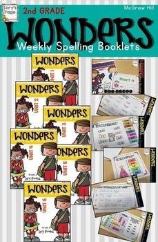 2nd Grade WONDERS  Spelling Booklet Bundle