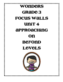 McGraw-Hill WONDERS Grade 3 Unit 4 Focus Walls Bundle