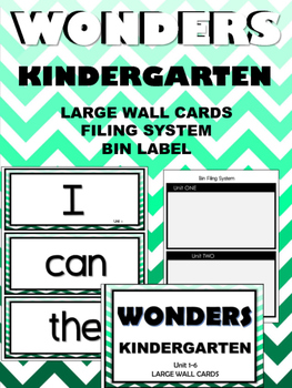 WONDERS ~ Kindergarten ~ Mint Chevron ~ Wall Words  (Filin