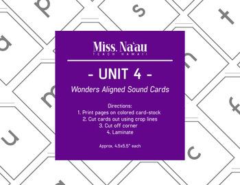 WONDERS SOUND CARDS - UNIT 4 - FIRST GRADE