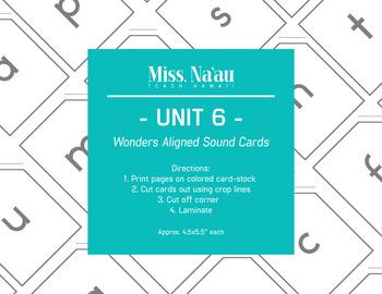 WONDERS SOUND CARDS - UNIT 6 - FIRST GRADE