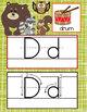 WOODLAND animals - Alphabet Cards, Handwriting, Cards, ABC