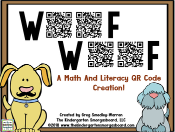QR CODES for Math and Literacy! WOOF!  WOOF QR Code Mega Pack!