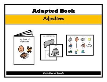 WORD ASSOCIATIONS Adjectives Adapted BOOK, AUTISM, Speech