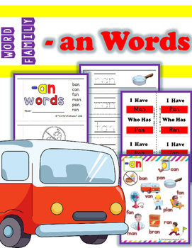 WORD FAMILY - '-AN' WORDS