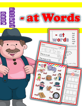WORD FAMILY - '-AT' WORDS