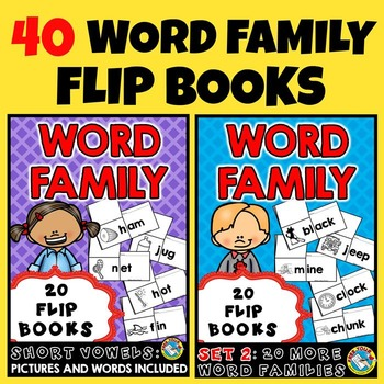 WORD FAMILY FLIP BOOKS: WORD FAMILIES PRINTABLES: READING