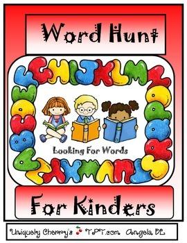 WORD HUNT...FOR KINDERS