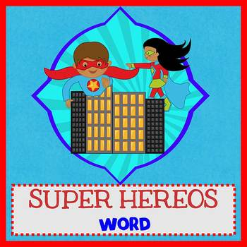 SUPERHEROES - Newsletter Template WORD